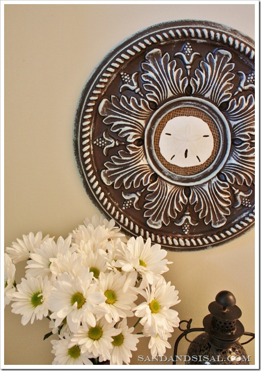 Sand dollar ceiling medallion art