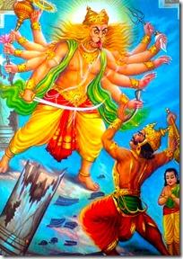 Narasimhadeva against Hiranyakashipu