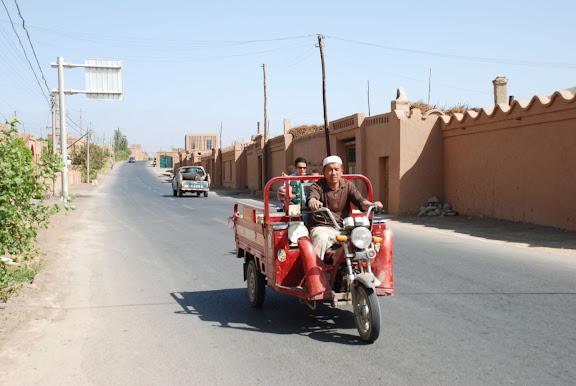 Turfan - Putaogou à moto