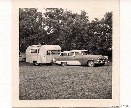1956 Plymouth and Dragin 1 in 1963 at Burkett home