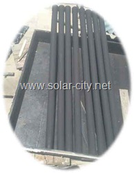 home made solar water heater - black tubes