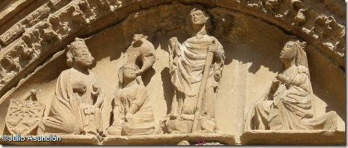 Tímpano iglesia de San Saturnino - Artajona - Navarra