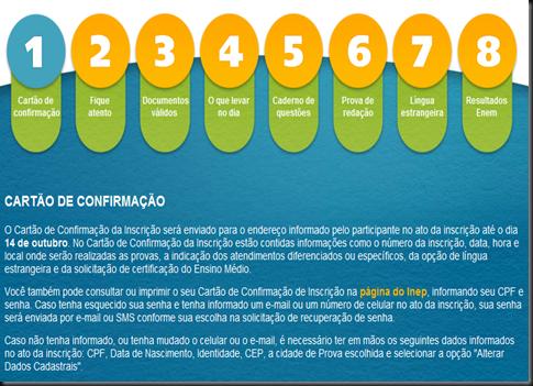 CARTÃO DE CONFIRMAÇÃO