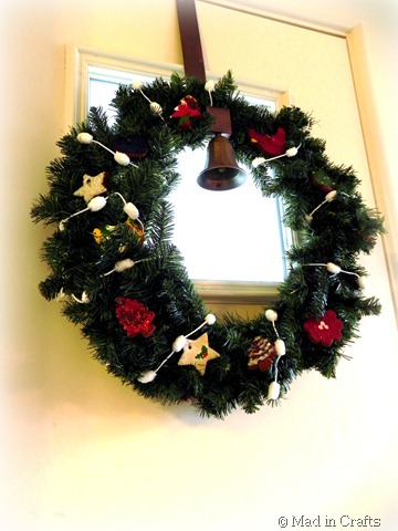 cinnamon ornament wreath