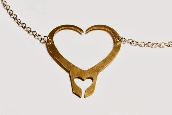 Loki Heart Pendant Necklace from FanFlail