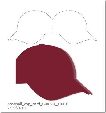 Baseball cap card