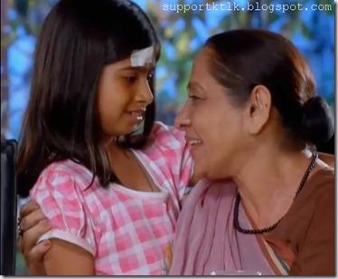 Khushi With Her Grandma