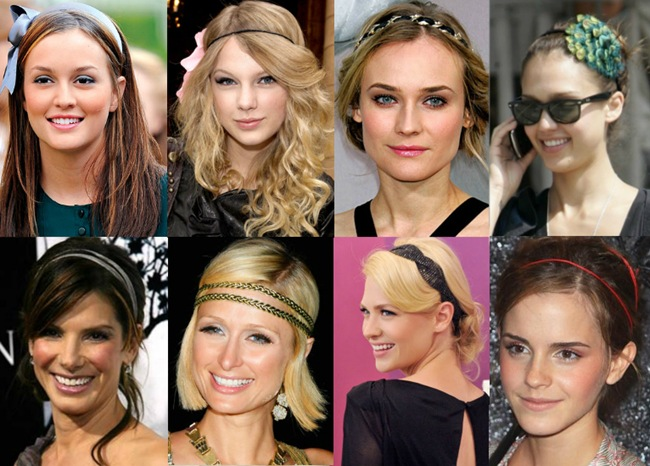 Acessórios para cabelos: Tiaras, Headband, grampos, preseilhas e faixas.