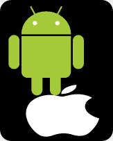 Android hurdling apple!