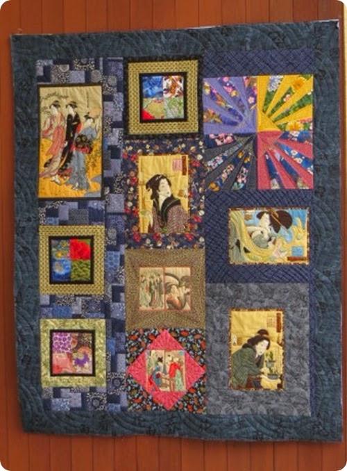 quilt by front door
