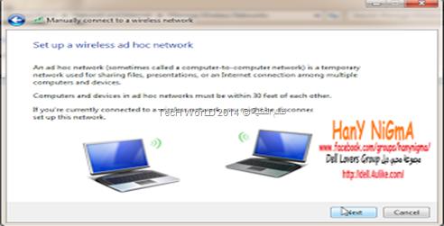 شرح بالصور لتحويل اللاب توب الى راوتر او اكسس بوينت وتوزيع النت من خلال على اجهزة اخرى How to make your laptop as a Router & an Access Point5