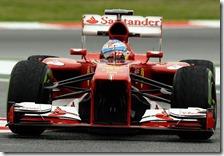 Alonso nelle prove libere del gran premio di Spagna 2013