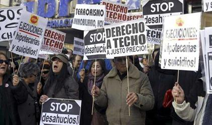 ESPAÑA CRISIS DESAHUCIOS