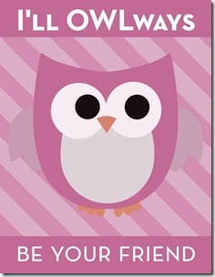 """""""I'll OWLways be your friend"""" Young Women Valentines Free Download"""