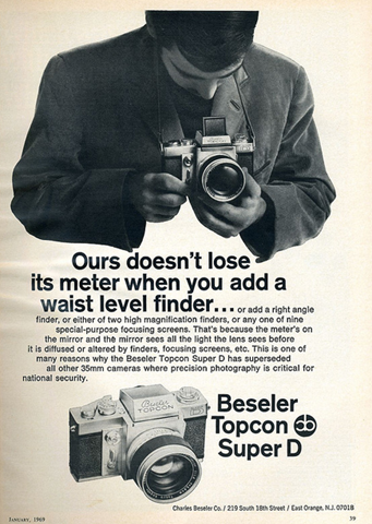Beseler Topcon Super-D brochure