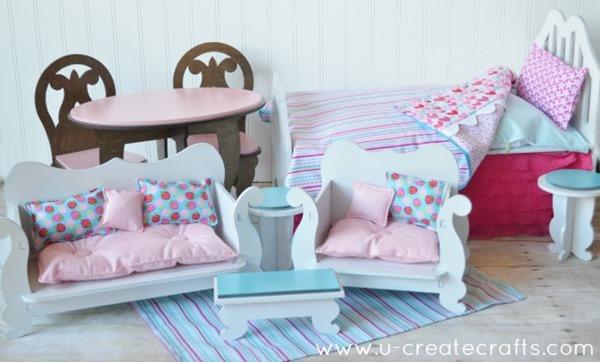 little miss diy furniture after building doll furniture