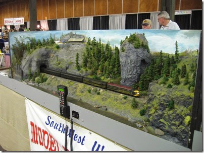 IMG_5575 Beacon Rock Scene on the HO-Scale Southwest Washington Model Railroad at the WGH Show in Portland, OR on February 18, 2007