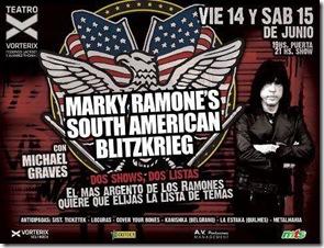 Marky Ramone gira sudamerica 2013 entradas baratas en linea vip