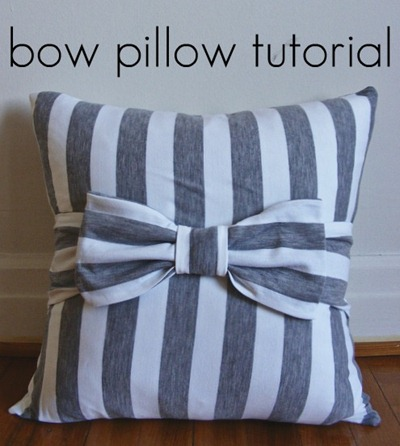 bow pillow tutorial