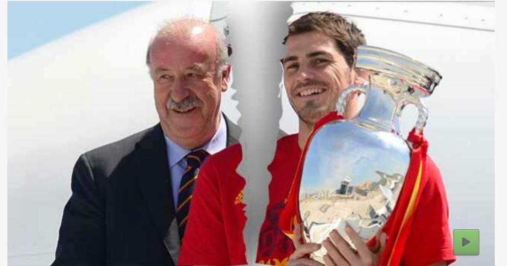 """""""Del Bosque. Enfadado con Casillas&quot"""