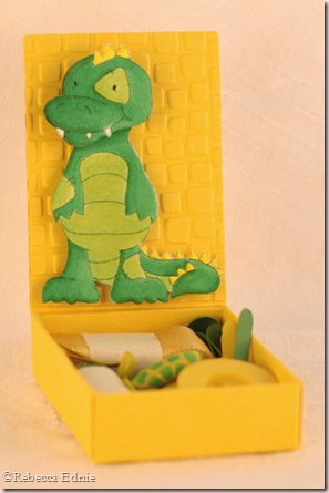 quirky alligator matchbox