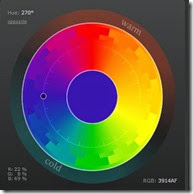 Typical colour wheel (see web app above)