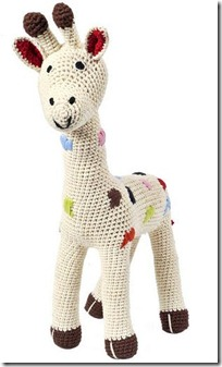 doudou au crochet Girafe