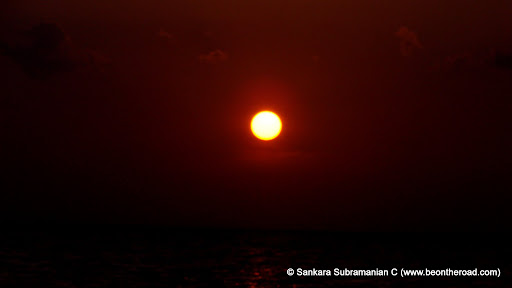 Sunset on the Bay of Bengal