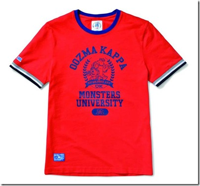 Monster University X Giordano - Red Tee Shirt Men