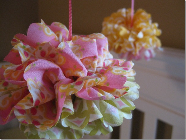Closeup of one of the girls' mobiles