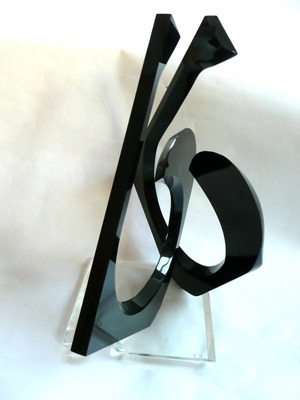 Van Teal sculpture in black and transparent acrylic