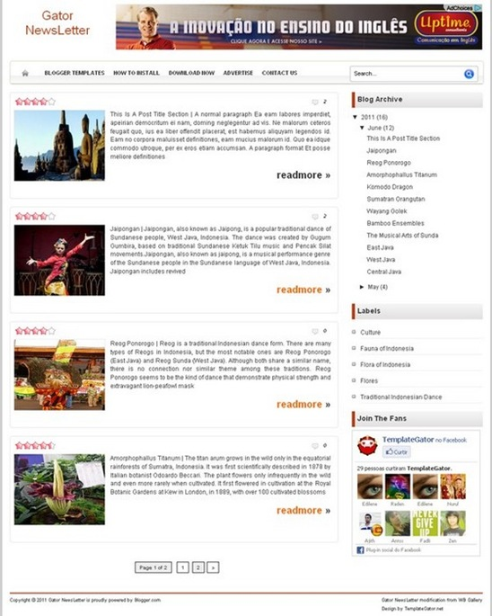 Newsgator - Template Genérico