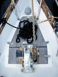 Anchor windlass and anchor locker doors