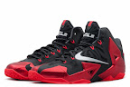 nike lebron 11 gr black red 9 01 New Photos // Nike LeBron XI Miami Heat (616175 001)