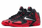 nike lebron 11 gr black red 9 01 New Photos // Nike LeBron XI Miami Heat (616175 001)