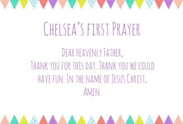 Chelsea's first prayer