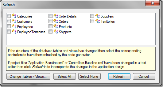Refreshing the web application. None of the controllers have been selected.