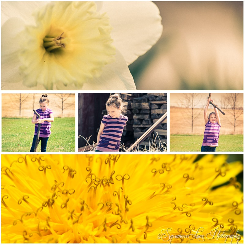 Spring flowers and sis-SycamoreLane Photography