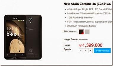 Asus Zenfone C Masuk Indonesia, Gunakan Nama New Asus Zenfone 4S