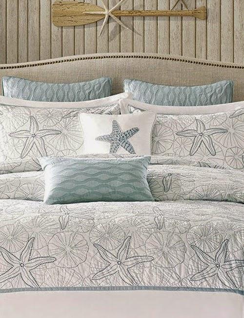 Inspiração: estrela do mar - colcha e almofadas
