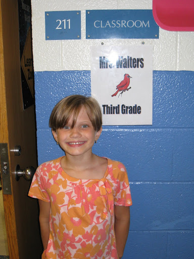 Open house at Goodridge - Natalie's new classroom.