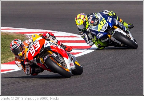 'Marc Marquez #93 leading Valentino Rossi #46' photo (c) 2013, Smudge 9000 - license: https://creativecommons.org/licenses/by-sa/2.0/