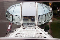 One of the capsules on the London Eye