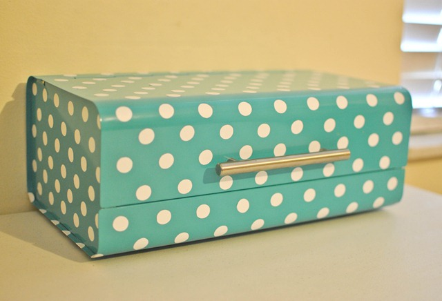 bread box to sewing storage box
