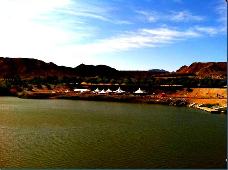 Water at Lake Las Vegas for Xterra April 2012