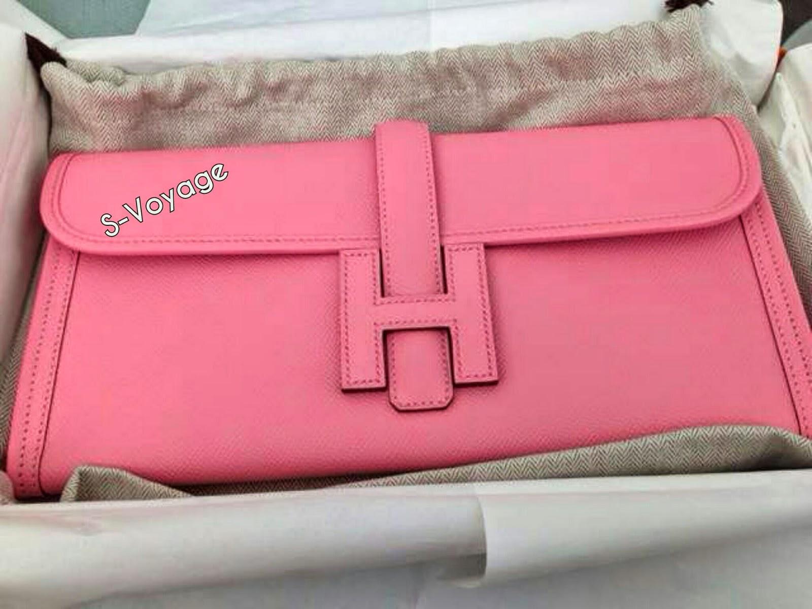 Pink Hermes Clutch