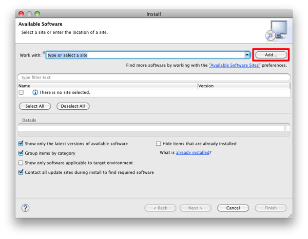 Mac eclipse install add