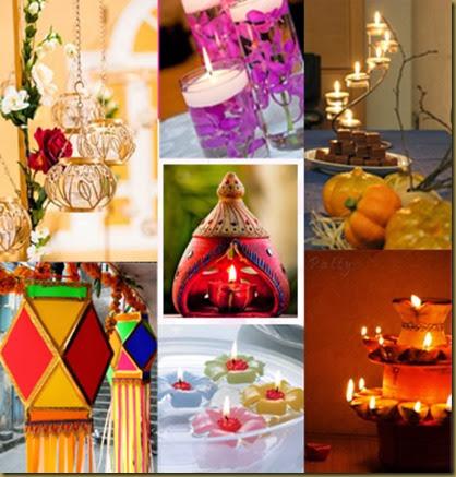 Diwali decoration ideas diwali home decorations at low for Simple diwali home decorations