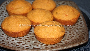 Salsa Flax Corn Muffins - display