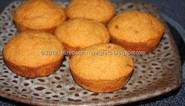 Salsa Flax Corn Muffins - display